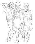 不自然な3人娘