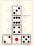 サイコロ(スケール付)  DXF