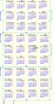 2014年三角カレンダー(月曜始まり)  DXF