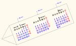 2015年 三角カレンダー (月曜始まり) DXF