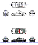 パトカー クラウンロイヤル14代目(幻?)  DXF