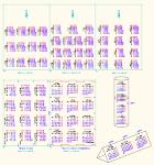 2016年 三角・円筒カレンダー (月曜始まり)訂正 DWG