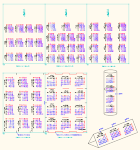 2016年 三角・円筒カレンダー (月曜始まり)訂正 JWW