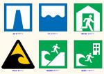 標準案内用図記号 津波等 JWW
