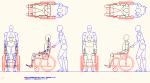 人物モデル化 介助人有り車椅子用 JWW