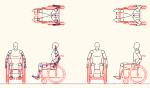 人物モデル化 単独車椅子用 JWW