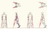 人物モデル化 松葉杖使用 DXF