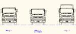 大型トラック  日野キャブ正面図 JWW