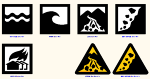 案内用図記号  災害種別図記号 JWW