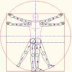 ダ・ヴィンチ「浮いとるウィウス的人体図」 DXF