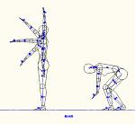 人物モデル化 (成人女性側面)  DXF