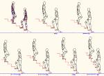 人物モデル化(成人男性) 階段勾配比較 DXF