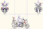 CB1300P 白バイ(右側面 正面 後面) MPZ