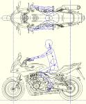 * CB1300SB 2017マイナーチェンジ(平面 左側面) DXF
