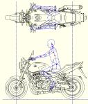 CB1300SF 2017マイナーチェンジ(平面、左側面) DXF