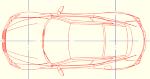 レクサスLC500(平面のみ) 点景・計画用 DXF