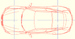 レクサスLC500(平面のみ) 点景・計画用 JWW