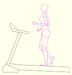 ランニングマシーン 人物女性 側面のみ DXF