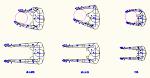 人物モデル化 (平面) DXF