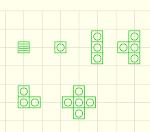 点字ブロックの簡略化図形 JWW