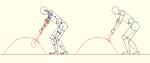 人物モデル化 スコップで作業をする男性 DXF