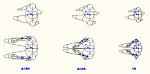 人物モデル化 (平面 着座 歩き)   DXF