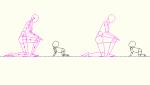 人物モデル化 赤ちゃん はいはい DXF