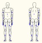 人物モデル化 (成人男性 正面背面立ち姿)  DXF