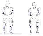 人物モデル化 (成人男性 正面着座)  DXF