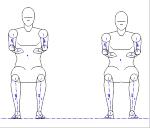 人物モデル化 (成人男性 正面着座)  JWW