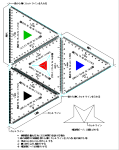 縮小(70.7%)正四面体スケール JWW