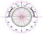 方位角 勾配分度器 DXF