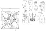 折り鶴の展開図