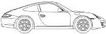 Porsche911 側面