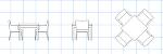 CRESレストラン椅子