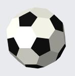 切頂二十面体(サッカーボール)