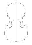 バイオリン(表板) DXF