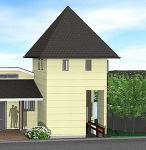 とんがり屋根2.5D