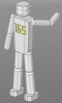 人間3Dモデル_165cm