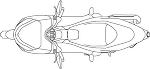 HONDAホンダ スクーター PCX 平面図
