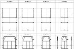 門型足場用の先行手摺(mモジュール) DXF版