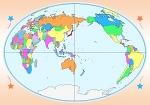 世界図 白地図