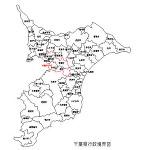 千葉県の白地図