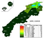 島根県の人口密度