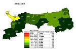 鳥取県の人口密度