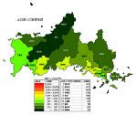 山口県の人口密度