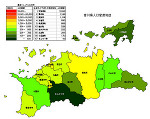 香川県の人口密度