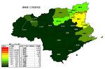 徳島県の人口密度