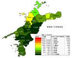 愛媛県の人口密度