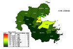 大分県の人口密度